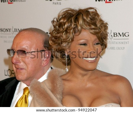 LOS ANGELES - FEB 10:  Clive Davis, Whitney Houston arrives at the Clive Davis Annual Pre-Grammy Party at Beverly Hilton Hotel on February 10, 2007in Beverly Hills, CA - stock photo