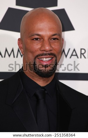 LOS ANGELES - FEB 8:  Common at the 57th Annual GRAMMY Awards Arrivals at a Staples Center on February 8, 2015 in Los Angeles, CA - stock photo