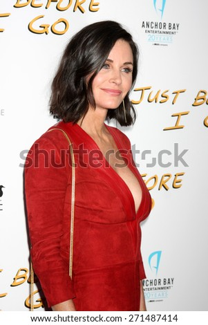 "LOS ANGELES - FEB 20:  Courteney Cox at the ""Just Before I Go"" Premiere at the ArcLight Hollywood Theaters on April 20, 2015 in Los Angeles, CA - stock photo"