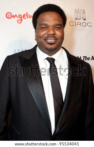 "LOS ANGELES - FEB. 12: Craig Robinson attends the ""Fame At The Mansion"" 2012 Grammy Aterparty hosted by Sean ""Diddy"" Combs held at the Playboy Mansion. Los Angeles, Feb 12, 2012 - stock photo"