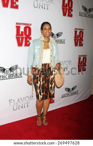 "LOS ANGELES - FEB 13:  Daphne Wayans at the ""Brotherly Love"" LA Premiere at the Silver Screen Theater at the Pacific Design Center on April 13, 2015 in West Hollywood, CA - stock photo"
