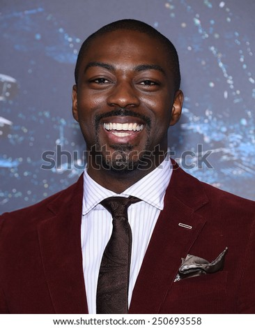 "LOS ANGELES - FEB 02:  David Ajala arrives to the ""Jupiter Ascending"" Los Angeles Premiere  on February 2, 2015 in Hollywood, CA                 - stock photo"