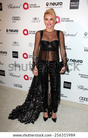 LOS ANGELES - FEB 22:  Diana Jenkins at the Elton John Oscar Party 2015 at the City Of West Hollywood Park on February 22, 2015 in West Hollywood, CA - stock photo