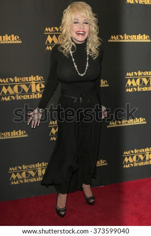 LOS ANGELES - FEB 5:  Dolly Parton at the 24th Annual MovieGuide Awards at the Universal Hilton Hotel on February 5, 2016 in Los Angeles, CA - stock photo