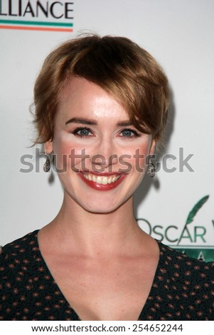 LOS ANGELES - FEB 19:  Dominique McElligott at the Oscar Wilde US-Ireland Pre-Academy Awards Event at a Bad Robot on February 19, 2015 in Santa Monica, CA - stock photo