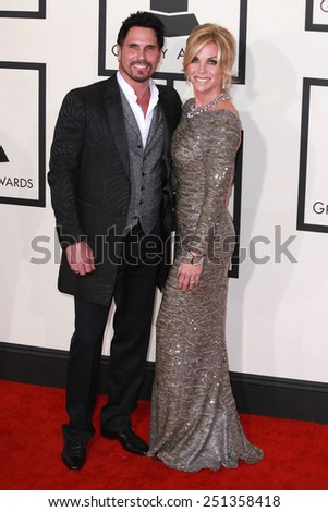 LOS ANGELES - FEB 8:  Don DIamont, Cindy Ambuehl at the 57th Annual GRAMMY Awards Arrivals at a Staples Center on February 8, 2015 in Los Angeles, CA - stock photo