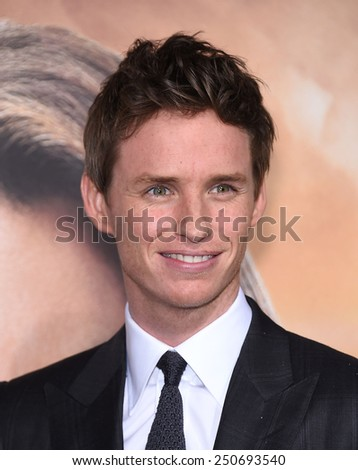"LOS ANGELES - FEB 02:  Eddie Redmayne arrives to the ""Jupiter Ascending"" Los Angeles Premiere  on February 2, 2015 in Hollywood, CA                 - stock photo"
