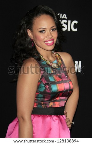 LOS ANGELES - FEB 9:  Elle Varner arrives at the ROC NATION Annual Pre-Grammy Brunch at the Soho House on February 9, 2013 in West Hollywood, CA - stock photo