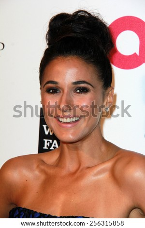 LOS ANGELES - FEB 22:  Emmanuelle Chiriqui at the Elton John Oscar Party 2015 at the City Of West Hollywood Park on February 22, 2015 in West Hollywood, CA - stock photo