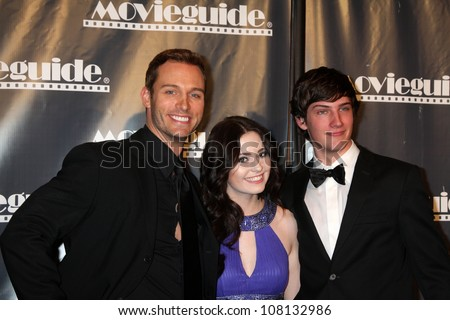 LOS ANGELES - FEB 18:  Eric Martsolf, Jillian Clare, Michael Bolten arrives at the 19th Annual Movieguide Awards Gala at Universal Hilton Hotel on February 18, 2011 in Los Angeles, CA