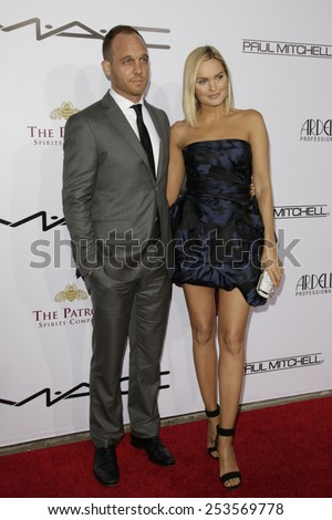 LOS ANGELES - FEB 14: Ethan Embry, Sunny Mabrey at the Make-Up Artists & Hair Stylists Guild Awards at the Paramount Theater on February 14, 2015 in Los Angeles, CA - stock photo