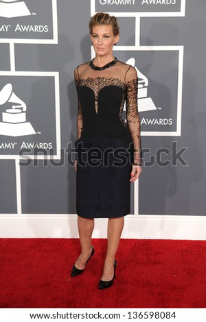 LOS ANGELES - FEB 10:  Faith Hill arrives to the Grammy Awards 2013  on February 10, 2013 in Los Angeles, CA.