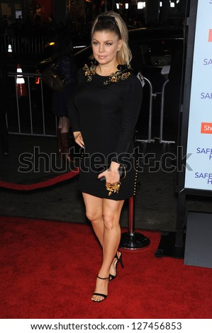 LOS ANGELES - FEB 05:  Fergie arrives to the 'Safe Haven' Hollywood Premiere  on February 05, 2013 in Hollywood, CA