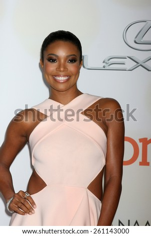 LOS ANGELES - FEB 6:  Gabrielle Union at the 46th NAACP Image Awards Arrivals at a Pasadena Convention Center on February 6, 2015 in Pasadena, CA - stock photo