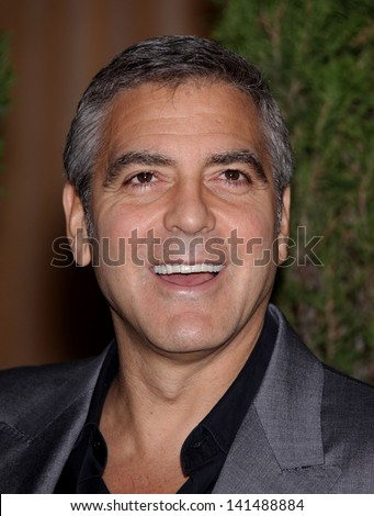 LOS ANGELES - FEB 6:  GEORGE CLOONEY arrives to the 2012 Academy Awards Nominee Luncheon  on Feb 6, 2012 in Beverly Hills, CA - stock photo