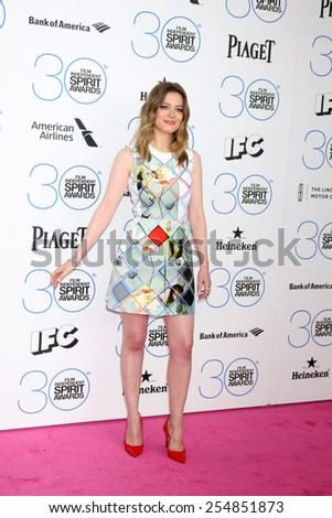 LOS ANGELES - FEB 21:  Gillian Jacobs at the 30th Film Independent Spirit Awards at a tent on the beach on February 21, 2015 in Santa Monica, CA