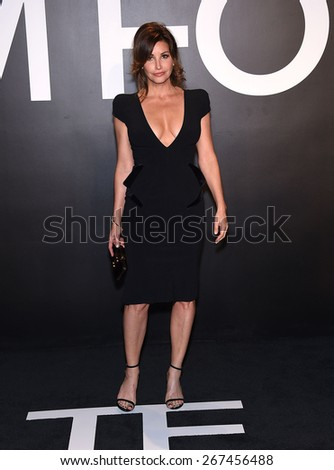 LOS ANGELES - FEB 20:  Gina Gershon arrives to the Tom Ford Autumn/Winter 2015 Womenswear Collection Presentation  on February 20, 2015 in Hollywood, CA                 - stock photo