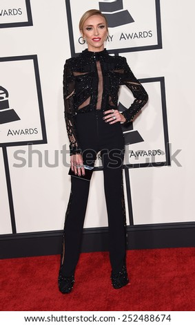 LOS ANGELES - FEB 08:  Giuliana Rancic arrives to the Grammy Awards 2015  on February 8, 2015 in Los Angeles, CA                 - stock photo