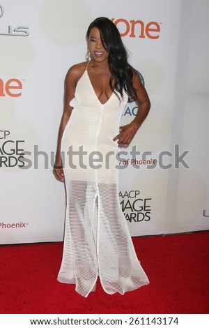 LOS ANGELES - FEB 6:  Golden Brooks at the 46th NAACP Image Awards Arrivals at a Pasadena Convention Center on February 6, 2015 in Pasadena, CA - stock photo