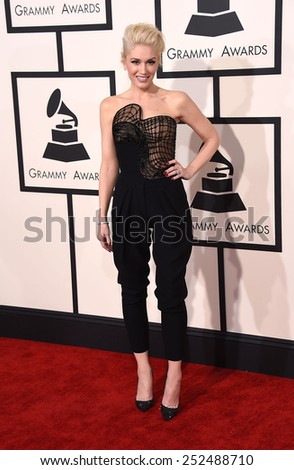 LOS ANGELES - FEB 08:  Gwen Stefani arrives to the Grammy Awards 2015  on February 8, 2015 in Los Angeles, CA                 - stock photo