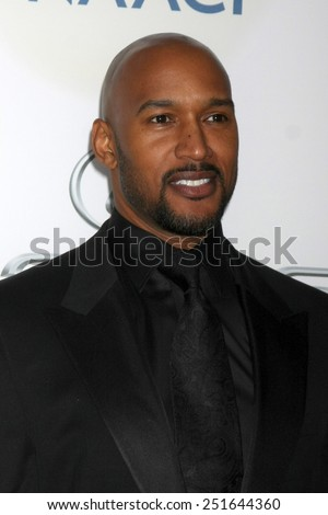 LOS ANGELES - FEB 6:  Henry Simmons at the 46th NAACP Image Awards Arrivals at a Pasadena Convention Center on February 6, 2015 in Pasadena, CA - stock photo