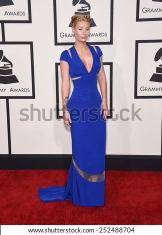 LOS ANGELES - FEB 08:  Iggy Azalea arrives to the Grammy Awards 2015  on February 8, 2015 in Los Angeles, CA                 - stock photo