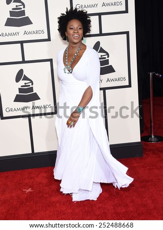 LOS ANGELES - FEB 08:  India Arie arrives to the Grammy Awards 2015  on February 8, 2015 in Los Angeles, CA