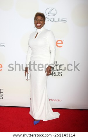 LOS ANGELES - FEB 6:  Iyanla Vanzant at the 46th NAACP Image Awards Arrivals at a Pasadena Convention Center on February 6, 2015 in Pasadena, CA - stock photo