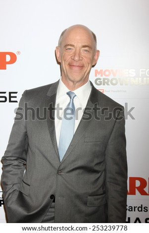 LOS ANGELES - FEB 2:  J.K. Simmons at the AARP 14th Annual Movies For Grownups Awards Gala at a Beverly Wilshire Hotel on February 2, 2015 in Beverly Hills, CA - stock photo