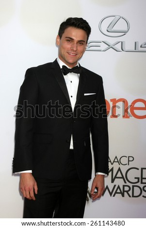 LOS ANGELES - FEB 6:  Jack Falahee at the 46th NAACP Image Awards Arrivals at a Pasadena Convention Center on February 6, 2015 in Pasadena, CA - stock photo