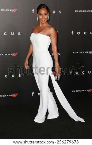 "LOS ANGELES - FEB 24:  Jada Pinkett Smith at the ""Focus"" Premiere at  TCL Chinese Theater on February 24, 2015 in Los Angeles, CA - stock photo"