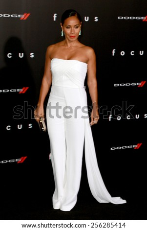 """LOS ANGELES - FEB 24:  Jada Pinkett Smith at the """"Focus"""" Premiere at  TCL Chinese Theater on February 24, 2015 in Los Angeles, CA - stock photo"""