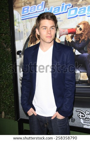 LOS ANGELES - FEB 10: Jake Manley at the screening of the Disney Channel Original Movie 'Bad Hair Day' at the Frank G Wells Theater on February 10, 2015 in Burbank, CA - stock photo