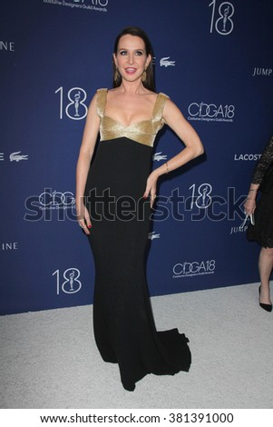 LOS ANGELES - FEB 23:  Janie Bryant at the 18th Costume Designers Guild Awards at the Beverly Hilton Hotel on February 23, 2016 in Beverly Hills, CA - stock photo