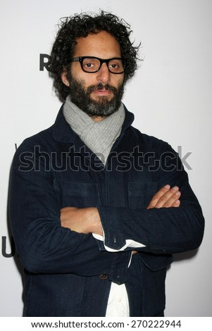 "LOS ANGELES - FEB 15:  Jason Mantzoukas at the ""Adult Beginners"" Los Angeles Premiere at the ArcLight Hollywood Theaters on April 15, 2015 in Los Angeles, CA - stock photo"