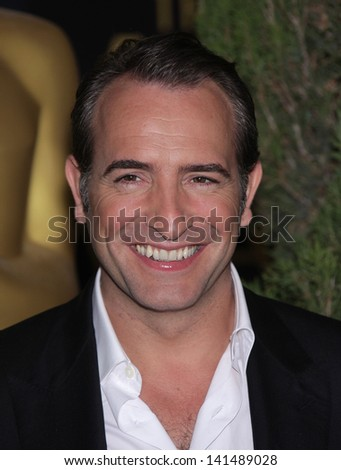 LOS ANGELES - FEB 6:  JEAN DUJARDIN arrives to the 2012 Academy Awards Nominee Luncheon  on Feb 6, 2012 in Beverly Hills, CA - stock photo