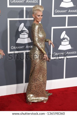 LOS ANGELES - FEB 10:  Jenna Jameson arrives to the Grammy Awards 2013  on February 10, 2013 in Los Angeles, CA.