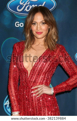 LOS ANGELES - FEB 25:  Jennifer Lopez at the American Idol Farewell Season Finalist Party at the London Hotel on February 25, 2016 in West Hollywood, CA - stock photo