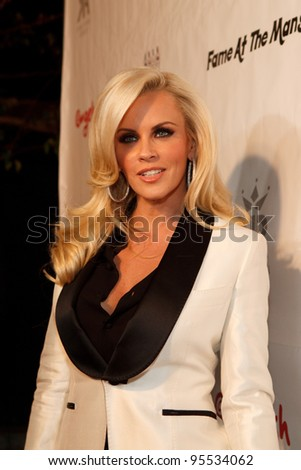 "LOS ANGELES - FEB. 12: Jenny McCarthy attends the ""Fame At The Mansion"" 2012 Grammy Aterparty hosted by Sean ""Diddy"" Combs held at the Playboy Mansion. Los Angeles, Feb 12, 2012 - stock photo"