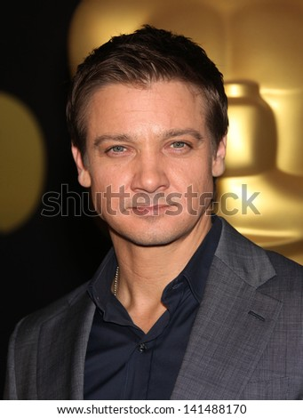 LOS ANGELES - FEB 7:  JEREMY RENNER arrives to the 83rd Academy Awards Nominees Luncheon  on Feb 7, 2011 in Beverly Hills, CA - stock photo