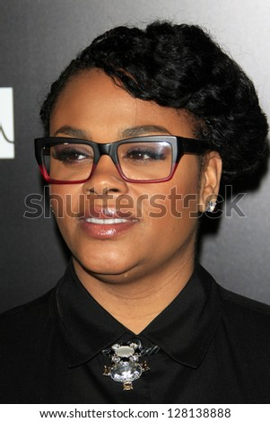 LOS ANGELES - FEB 9:  Jill Scott arrives at the ROC NATION Annual Pre-Grammy Brunch at the Soho House on February 9, 2013 in West Hollywood, CA - stock photo