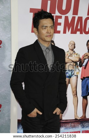 LOS ANGELES - FEB 18: John Cho at the 'Hot Tub Time Machine 2' premiere on February 18, 2014 in Los Angeles, California - stock photo