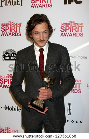 LOS ANGELES - FEB 23:  John Hawkes in the press room of the 2013 Film Independent Spirit Awards at the Tent on the Beach on February 23, 2013 in Santa Monica, CA