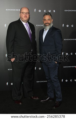 "LOS ANGELES - FEB 24:  John Requa, Glenn Ficarra at the ""Focus"" Premiere at  TCL Chinese Theater on February 24, 2015 in Los Angeles, CA - stock photo"