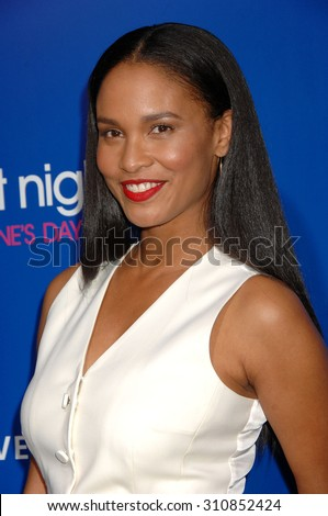 LOS ANGELES - FEB 11:  Joy Bryant arrives at the Pan African Film and Arts Festival Premiere of Screen Gems About Last Night   on February 11, 2014 in Hollywood, CA                 - stock photo