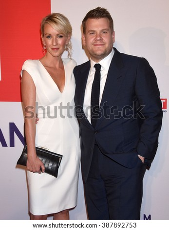 LOS ANGELES - FEB 26- Julia Carey and James Corden arrives at the Film is GREAT Reception on February 26, 2016 in West Hollywood, CA