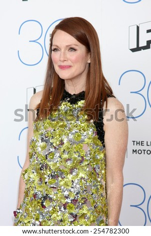 LOS ANGELES - FEB 21:  Julianne Moore at the 30th Film Independent Spirit Awards at a tent on the beach on February 21, 2015 in Santa Monica, CA - stock photo
