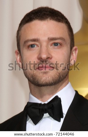 LOS ANGELES -  FEB 27: Justin Timberlake arrives in the Press Room at the 83rd Academy Awards at Kodak Theater, Hollywood & Highland on February 27, 2011 in Los Angeles, CA - stock photo