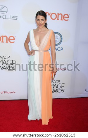LOS ANGELES - FEB 6:  Karla Souza at the 46th NAACP Image Awards Arrivals at a Pasadena Convention Center on February 6, 2015 in Pasadena, CA