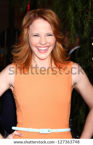 LOS ANGELES - FEB 6:  Katie Leclerc arrives at the 'Beautiful Creatures' Premiere at the TCL Chinese Theater on February 6, 2013 in Los Angeles, CA - stock photo